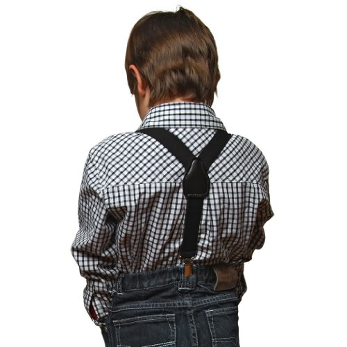 Buyless Kids and Baby Elastic Adjustable 1 inch Suspenders (Availaible in 25 colors and 3-sizes)