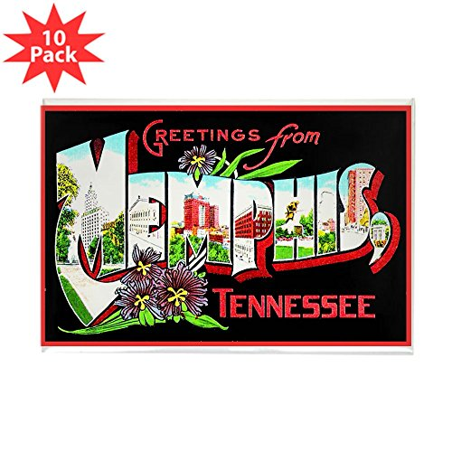 CafePress - Memphis Tennessee Greetings Rectangle Magnet (10 P - Rectangle Magnet, 2
