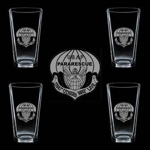 Air Force USAF Badge ParaRescue 4 GLASS ()