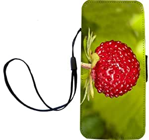 Rikki Knight Woodland Strawberry Hanging On Vine Flip Wallet iPhoneCase with Magnetic Flap for iPhone 5/5s - Woodland Strawberry Hanging On Vine