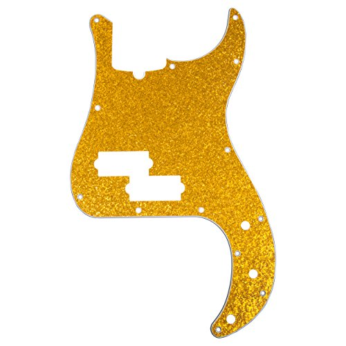 (D'Andrea Precision Bass Pickguards for Electric Guitar, Gold Sparkle )