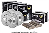 #8: Duralo Front Rear Brake Pad Rotor Kit For Audi A6 Quattro 1998 1999 2000 2001 - Duralo 153-3829 New