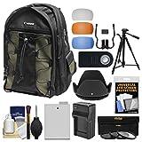 Canon 200EG Deluxe Digital SLR Camera Backpack Case with LP-E8 Battery + Tripod + Filters + Kit for Rebel T3i, T4i, T5i & 18-135mm IS Lens