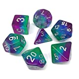 Gaming Dice Polyhedral Dice Sets for Dungeons and Dragons DND D&D Dice including Bags (Purple Aurora)