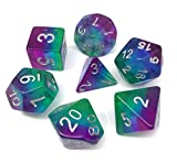 Hengda dice Polyhedral Dnd Dice Purple Aurora Dice for Dungeons and Dragons DND RPG MTG Table Gaming Dice