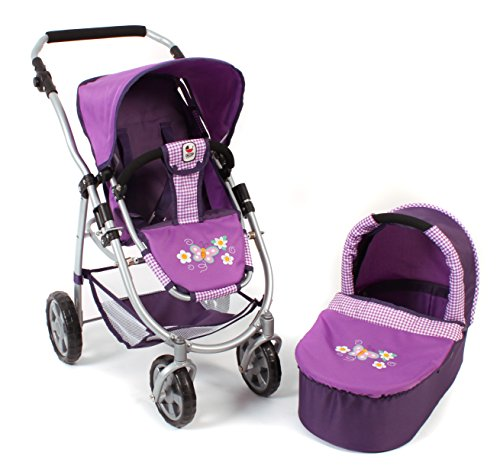 Bayer Chic 2000 638 28 - Kombi-Puppenwagen Emotion 2-in-1 Checker, purple