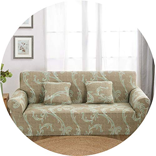 Little Happiness- Elastic Sofa Cover Sectional Stretch Slipcovers for Living Room Couch Cover L Shape Armchair Cover Single/Two/Three/Four Seat,Color 13,3-Seater 190-230cm ()