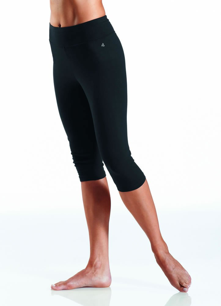 Jockey Women's Judo Legging with Wide Waistband, Deep Black, Large
