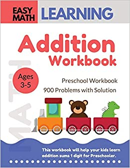 Addition Workbook: Easy Math Learning : 30 Days Challenge for 3-5 ...