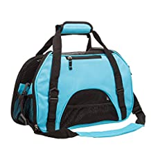 Pettom Airline Approved Pet Dog Cat Carrier Travel Soft Sided Tote Comfort Breathable Outdoor Bag Carrier