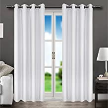 LOHASCASA Floor Length Blackout Curtains for Men Home Theater Curtains Thermal Curtain Set 1 Panels(52 By 95 Inch White)