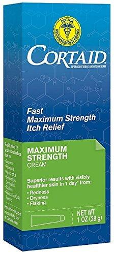 Cortaid Cream 1% (CORTAID Fast Maximum Strength Itch Relief Cream 1 oz by Cortaid)