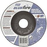 Norton Blue Fire Plus Depressed Center Abrasive Wheel, Type 27, Zirconia Alumina and Aluminum Oxide, 7/8'' Arbor, 4-1/2'' Diameter x 1/4'' Thickness   (Pack of 25)