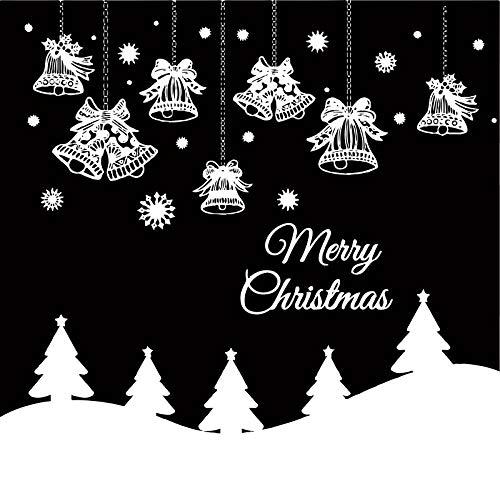 - Leowefowa 5x5Ft Merry Christmas Jingling Bell Vinyl Backdrop Snowflake Pine Trees Illustration Black Photography Backdrop New Year Festival Greeting Card Children Adult Photo Studio Props