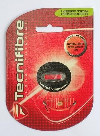 Tecnifibre - Antivibrador para Raqueta de Tenis (Transparent Mit Rotem Logo): Amazon.es: Deportes y aire libre