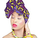 STUNNING Hijab African HeadWrap African Fabric Scarf Chic Collection Light Weight African Head Wrap Turban ROYAL HEAD WRAPS