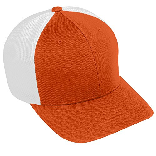 Augusta Sportswear ADULT FLEX FIT VAPOR CAP S/M Orange/White