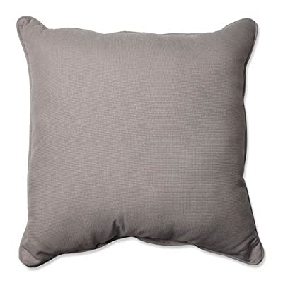 "Pillow Perfect Outdoor/Indoor Tweed Floor Pillow, 25"", Gray - Includes one (1) outdoor floor pillow, resists weather and fading in sunlight; suitable for indoor and outdoor use Plush Fill - 100-percent polyester fiber filling Edges of outdoor pillows are trimmed with matching fabric and cord to sit perfectly on your outdoor patio furniture - patio, outdoor-throw-pillows, outdoor-decor - 516EGpkTz L. SS400  -"