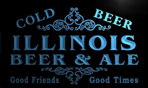 er & Ale Vintage Design Bar Decor Neon Light Sign (Illinois Neon Sign)