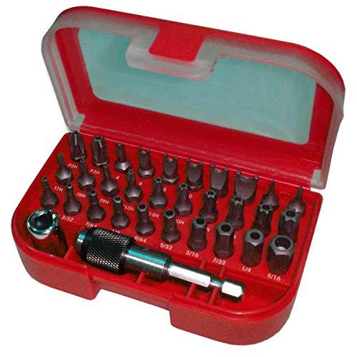 Triplett Security Bit Kit 32-Piece Kit with 30 Industrial-Grade Bits for Tamper Proof Fasteners (TSBK-001)