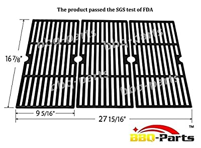 Hongso PSCH763 Cooking Grid Replacement for Select Gas Grill Models by Charbroil, Kenmore and Others, Set of 3