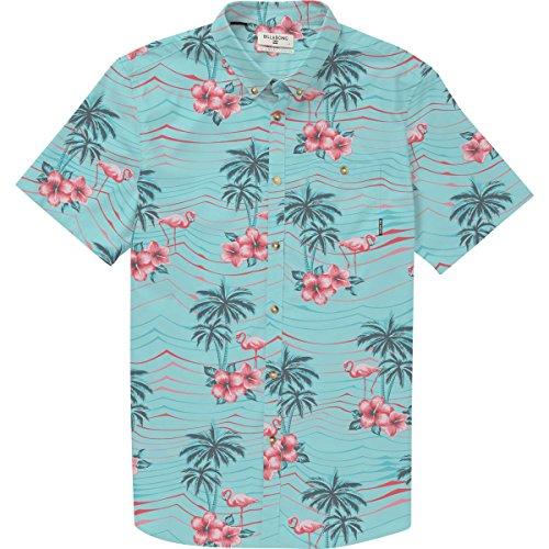 (Billabong Men's Sundays Floral Short Sleeve Shirt Mint Large)