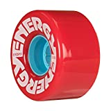 Riedell Skates Radar Energy 57mm Outdoor Skate Wheels (RED, Set of 4)