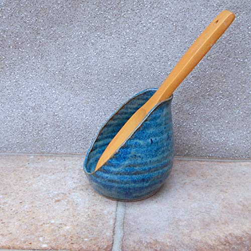 Spoon rest hand thrown stoneware pottery handmade spoonrest wheelthrown ceramic