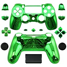 WPS Chrome Controller Full Housing Shell + Full buttons for PS4 Playstation 4 Dualshock 4 ( GEN 1 Controllers ONLY) (Chrome green)