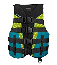 O'Neill Women's SuperLite USCG Life Vest,Black/Turquoise/Lime/Turquoise,Small