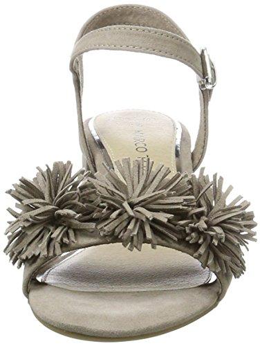 Marco Tozzi 28315, Sandalias de Tacón Para Mujer Beige (Taupe 341)