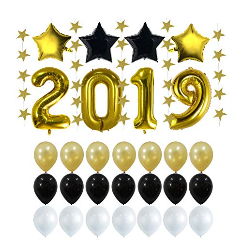 2019 New Years Eve Party Supplies Decoration, Graduation Decorations Party Supplies 2019 Balloons ()