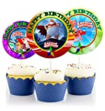 12 Captain Underpants The First Epic Movie Birthday Inspired Party Picks, Cupcake Picks, Cupcake Toppers #1