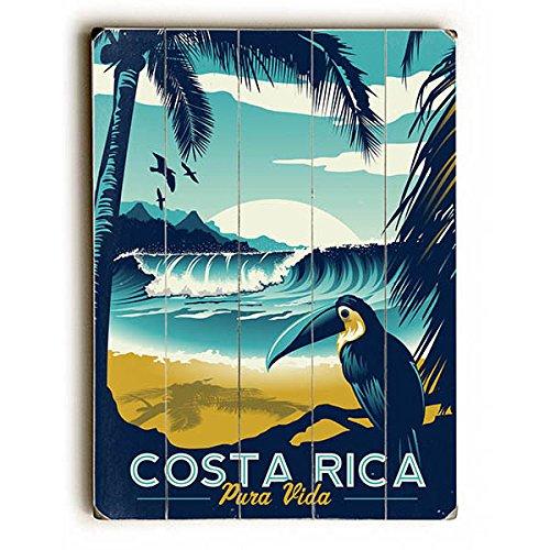 Wood Sign Planked Vintage - Costa Rica by Artist Matthew Schnepf 12