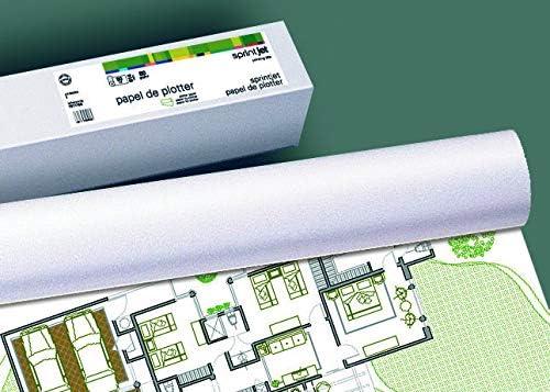 Apli 016096 – Juego de 4 bobinas de papel CAD de inyección de tinta 1067 x 50 m: Amazon.es: Oficina y papelería