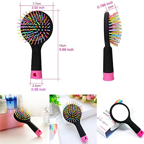 IFUNLE Detangling Hair Brush Detangle Hair Easily With No Pain Good For Wet Or Dry Hair Adults Kids Rainbow