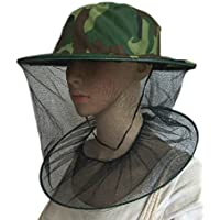 Niome Fabric Camouflage Field Jungle Mesh Face Mask Cap Mosquito Bee Bug Insect Fishing Hat Facial Protector Tool