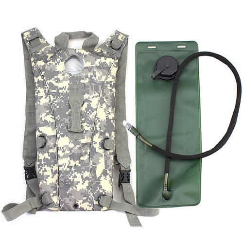 TOOGOO(R) 3L Hydration Water Bag Pouch Backpack Bladder for Hiking Climbing Survival