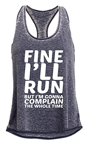 Tough Cookies Womens Fine Ill Run Mineral Wash Tank Top  Large  Navy