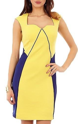 Cenia NY Women's Sweatheart Nkline Color Block A-Line Sheath