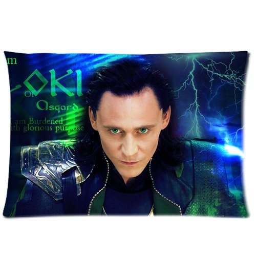 1 X Custom Paradise Movie Thor Character Loki-Tom Hiddleston Zippered Pillow Cases 20
