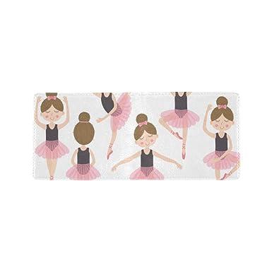 Amazon.com: Cute Ballerina rosa chica Cool Lether tarjeta de ...