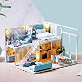 WYD Miniature DIY Dollhouse Kit with Furniture Accessories Creative Gift for Lovers and Friends...