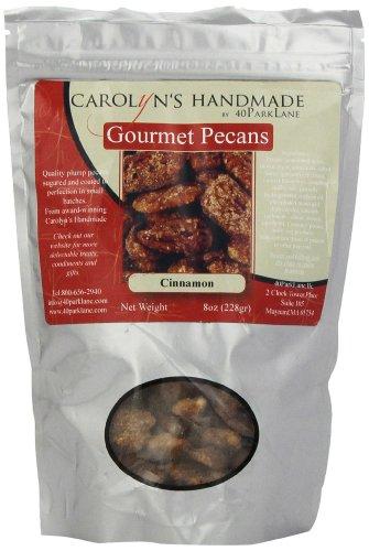 - Carolyn's Handmade Gourmet Platinum Snack Bag, Cinnamon Pecans, 8 Ounce