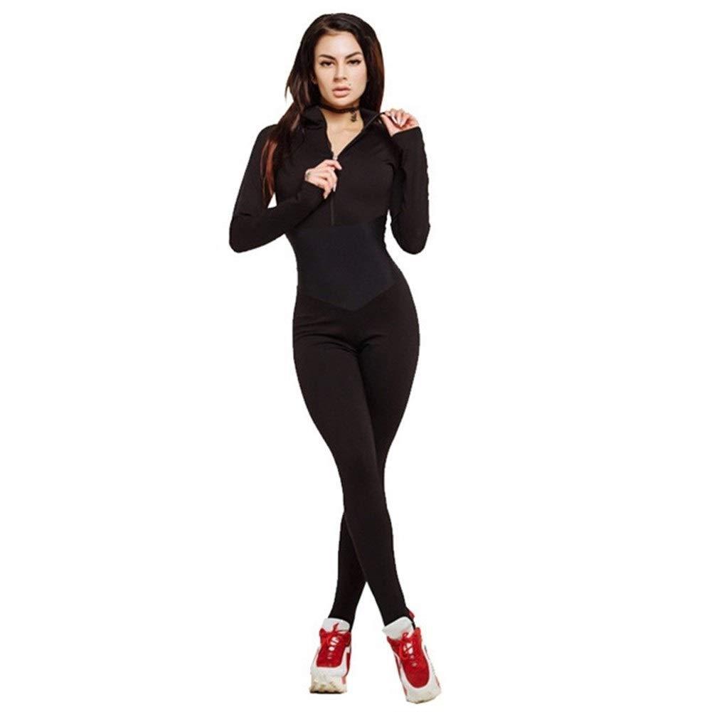 LAOBIAOZI Neue Frauen Yoga Set Sportbekleidung Siamesische Sportanzug Gym Wear Laufbekleidung Trainingsanzug Sexy Ensemble Reißverschluss Overalls Fitness Set