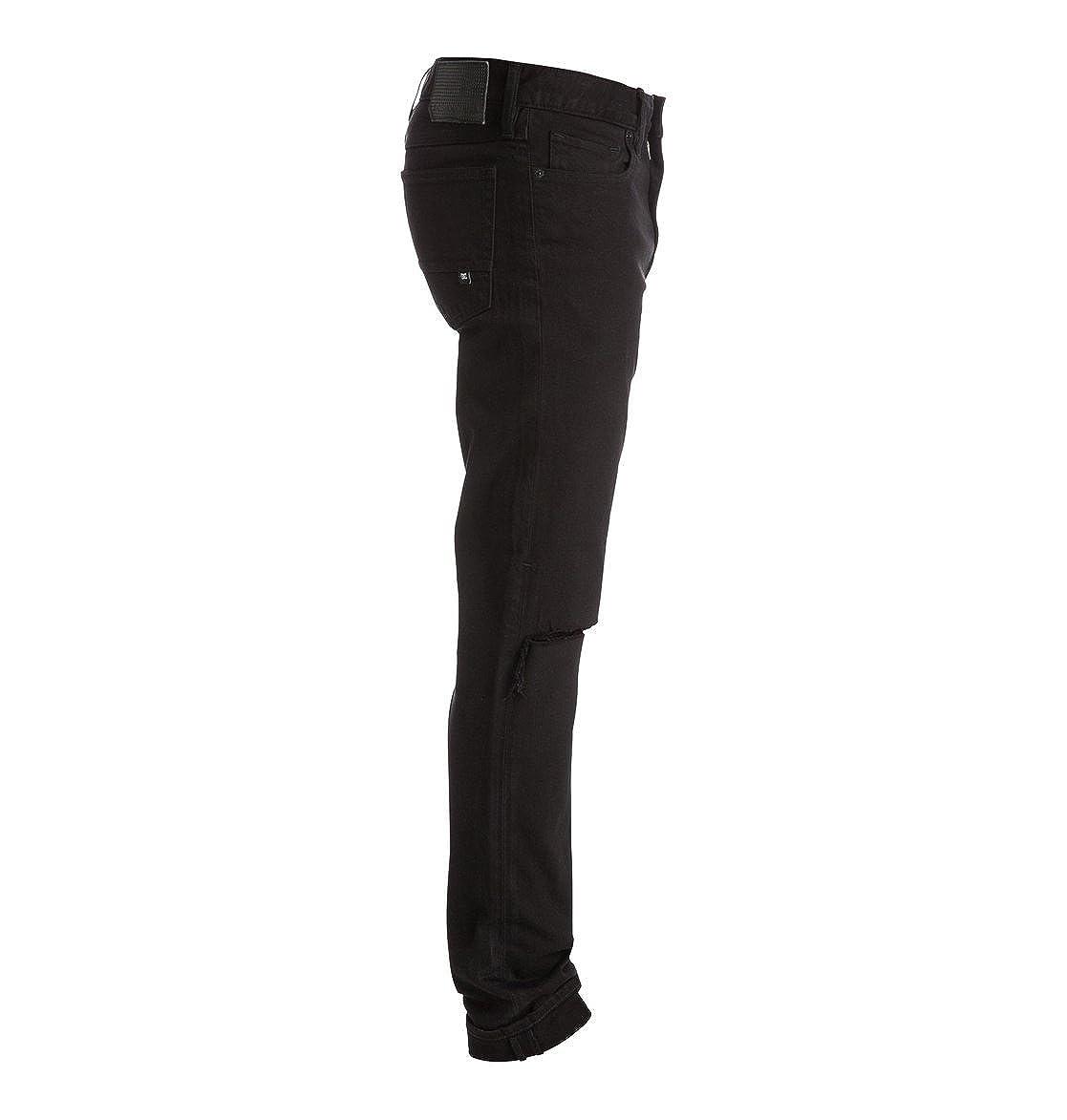4876765f2 DC Shoes Black Destroyed - Vaqueros Pitillo - Hombre - 30  Amazon.es  Ropa  y accesorios