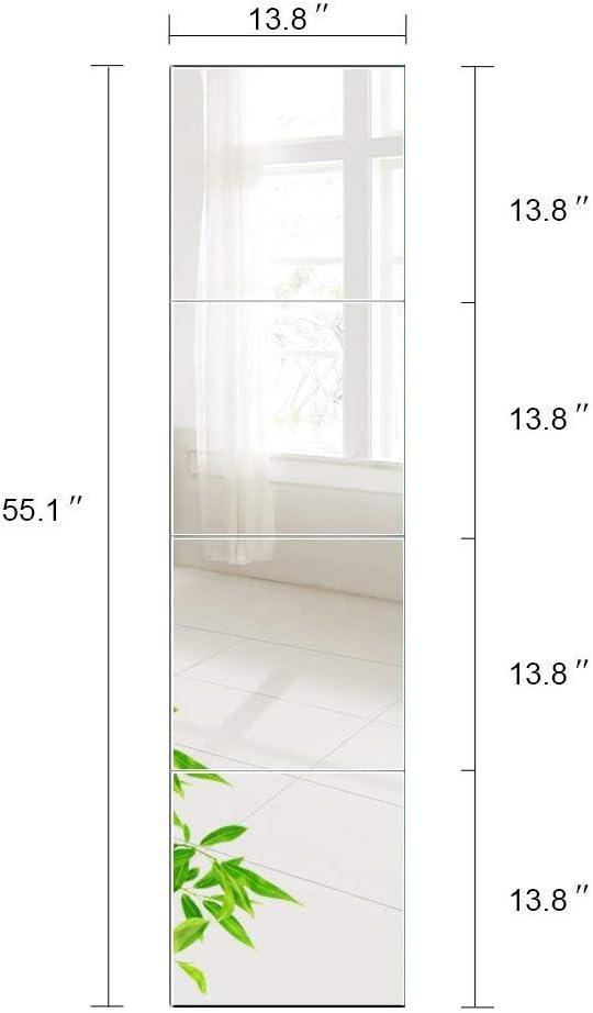 Salon Salle de Bain AUFHELLEN Miroirs Carr/és 35x35 CM Miroir Mural Mosaique Carr/é Lot de 4 pour Porte