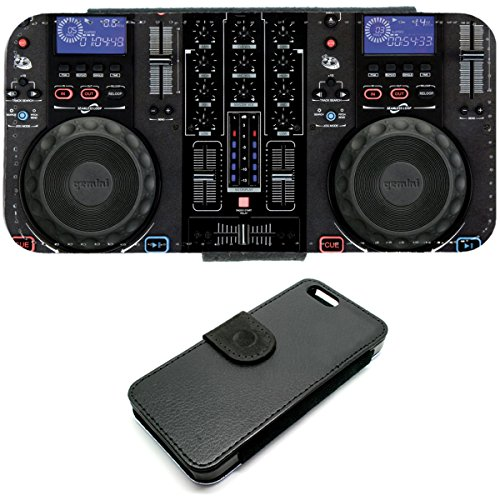 iPhone 5/5S Mixer CDDJ DJ TECHNICS Turntables Geldbörse Handyhülle