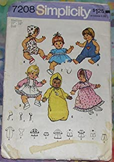 product image for Simplicity 7208 Sewing Pattern Baby Alive Ginny Baby Powder Puff Doll Clothes Check Listings for Size