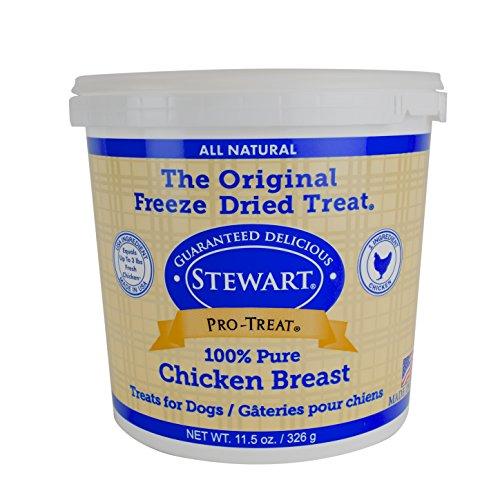 Gimborn Stewart Freeze Dried Treat – Chicken Breast 11.5 oz. Tub, 1 Pack For Sale